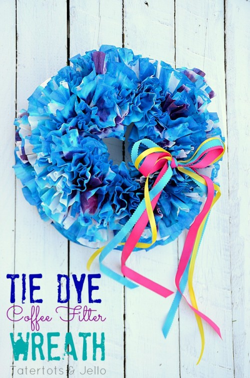 coffee filter wreath (via tatertotsandjello)