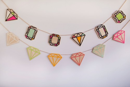 Colorful Diy Woode Gemstone Garland