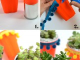 Colorful Handmade Solo Cup Succulents