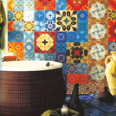 Colorful Mix Tiles For Bathroom Walls | Shelterness
