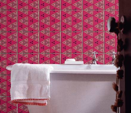 Colorful Mix Tiles For Bathroom Walls