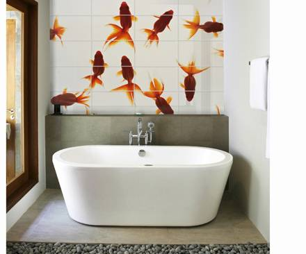 Decorating Bathroom Walls With Colorful Tiles | Shelterness