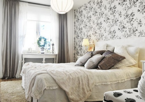 Cовременный интерьер спальни - скандинавский стиль