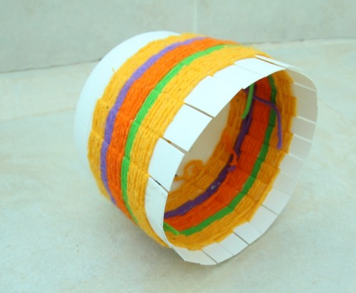 Colorful Woven Basket For Various Stuff