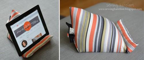 soft girlish iPad stand (via sewingbarefoot)