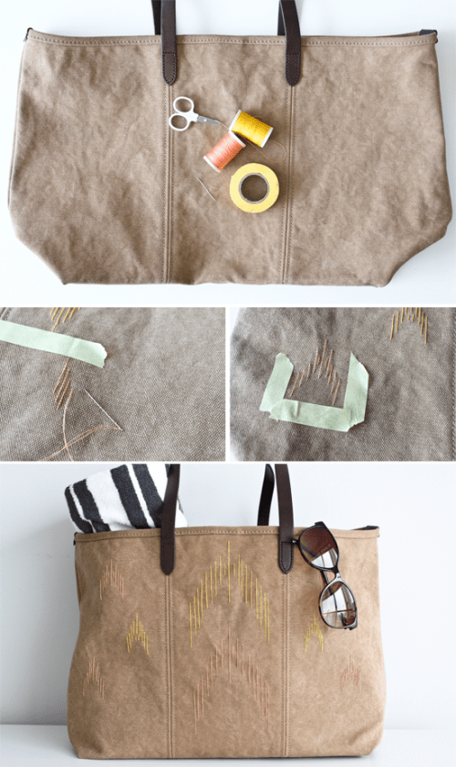 Comfortable Diy Ikat Beach Bag