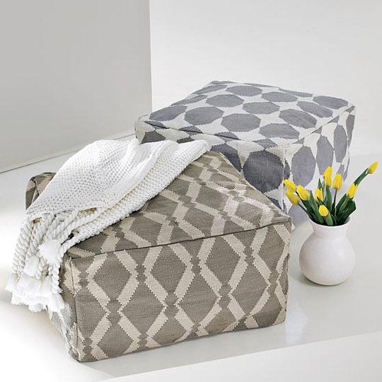 DIY beanbag pouf