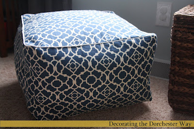 This 18x18 square cube cushion is 12 inches high is much cheaper than West Elm's alternative. (via decoratingthedorchesterway)