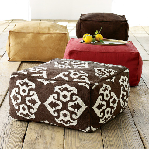 40 Comfortable DIY Poufs And Ottomans Shelterness Best How To Make A Square Pouf