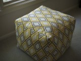 Pouf with geometric pattern (via imnotquitemartha)
