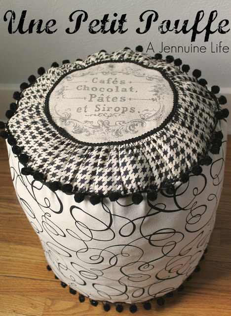 Even though this pouf ottoman is quite masculine - it could be used in any room. (via ajennuinelife)