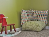 Floor pillows is even a more versatile alternative to poufs. You can use them for decorating your place.