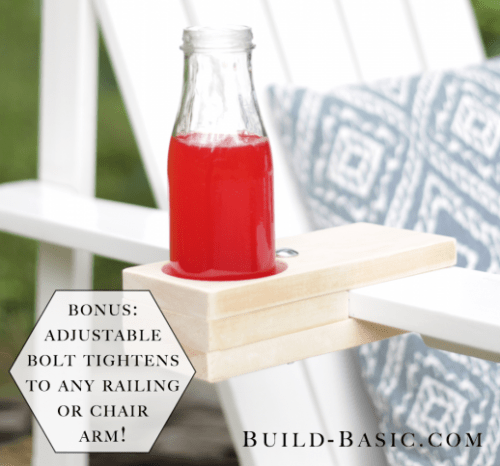 Comfy DIY Chair Drink Holder For Indoors And Outdoors