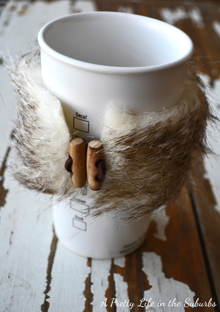 fur coffee cozies