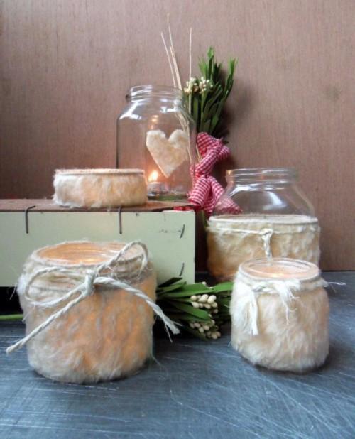 cozy fur candleholders (via shelterness)