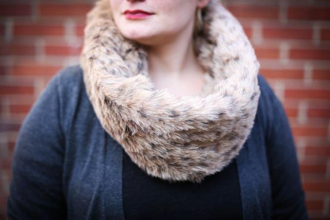 infinity fur scarf