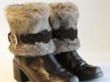 fur boots refashion