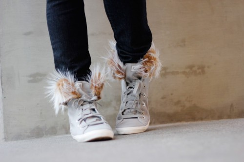 fur lined high tops (via seekatesew)