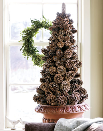 A pinecone tree is always great idea for a craft project. Besides it helps to make transition from fall to winter easier.