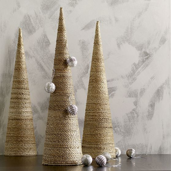 Christmas Decorations Cone Trees : Cone shaped christmas tree shelterness