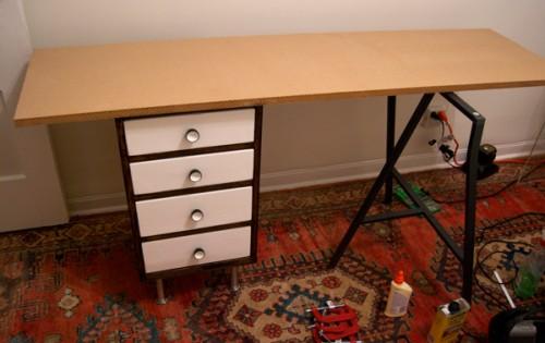 Contemporary Desk From A Dresser