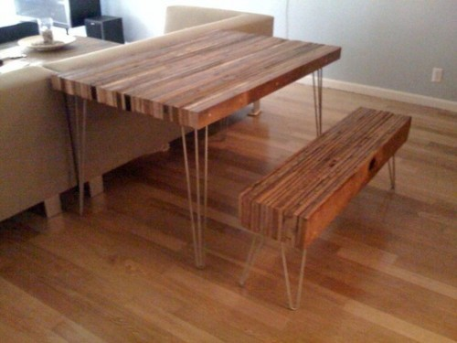Contemporary Reclaimed Wood Table