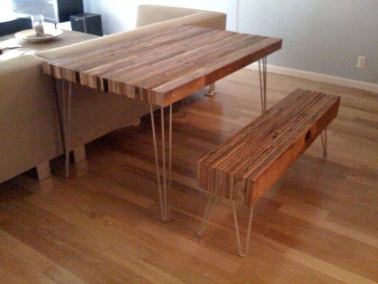 Contemporary Reclaimed Wood Table - 5 DIY Reclaimed Wood Table You Wish You Made - Shelterness