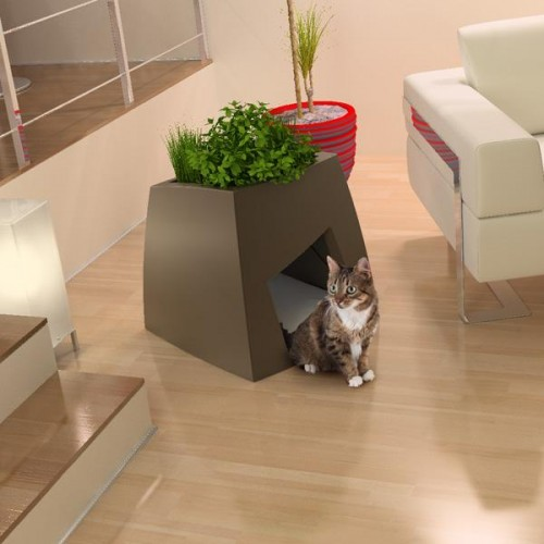 Contemporary Planter Combined With A Pet House