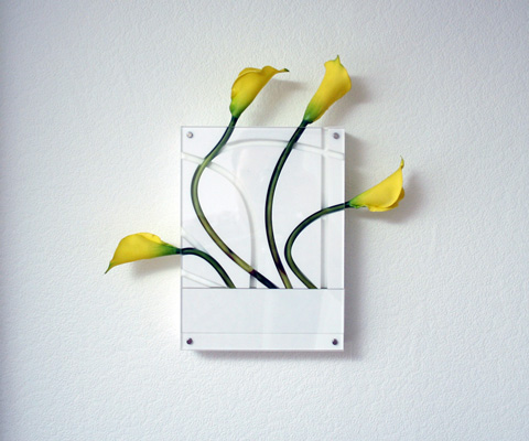 Contemporary Wall Mountable Flower Vases