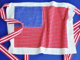 patriotic dishtowel apron