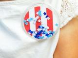 patriotic confetti buttons
