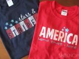 patriotic stencil shirts