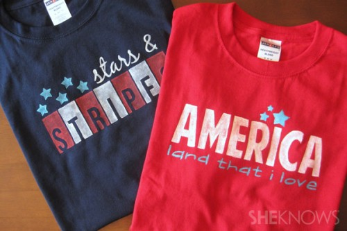patriotic stencil shirts (via sheknows)