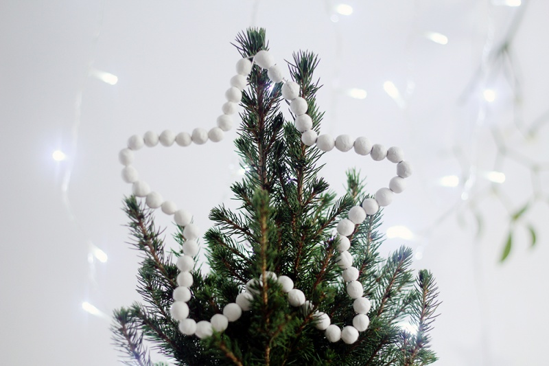 beaded star tree topper