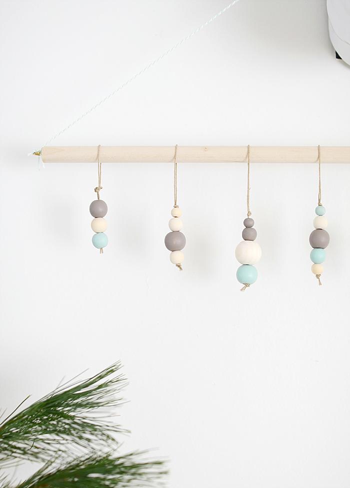 wood bead ornaments