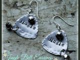 stamped Christmas earrings