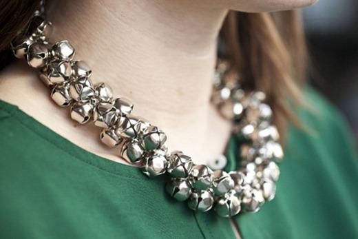statement jingle bells necklace
