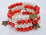 candy cane-inspired bracelet