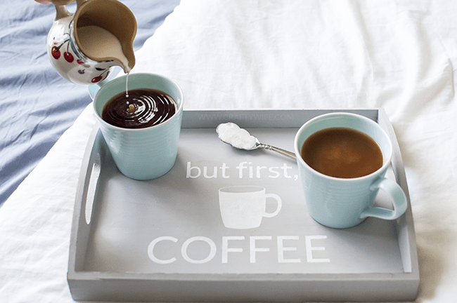 coffee chalkboard tray