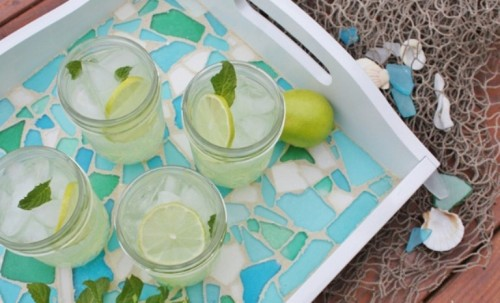 sea glass tray (via shelterness)