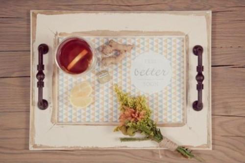 vintage chalkboard tray (via shelterness)