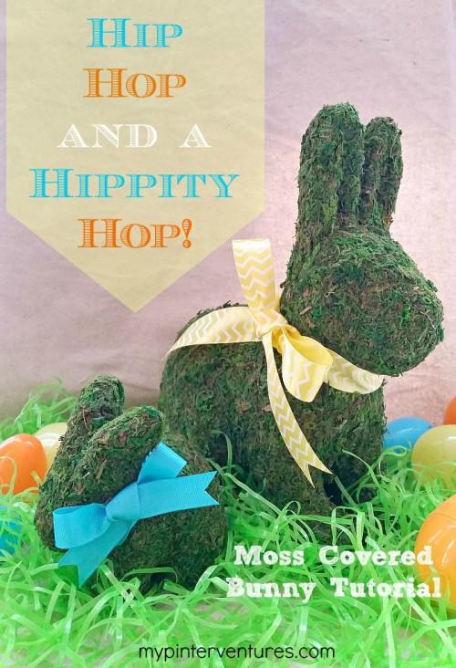 moss covered Easter bunny (via mypinterventures)