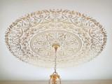 stenciled ceiling medallion