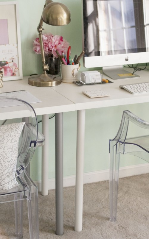 IKEA desk makeover (via dreamgreendiy)