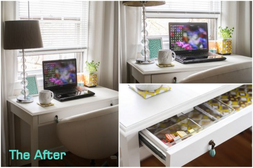 craigslist desk makeover (via morefruitplease)