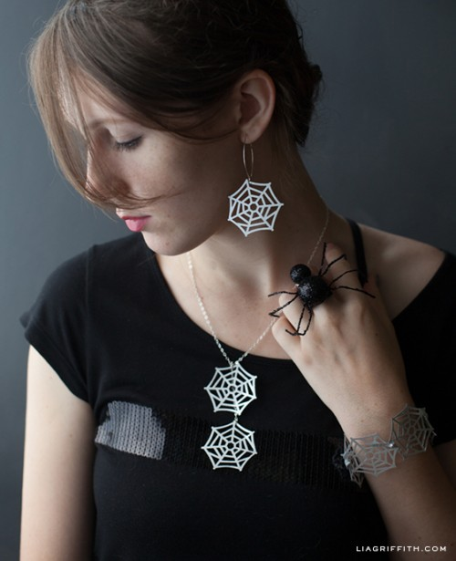 spider and web jewelry