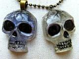 pendant skull with resin