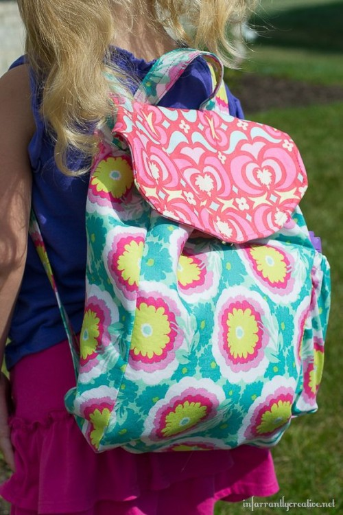 colorful girl backpack (via infarrantlycreative)