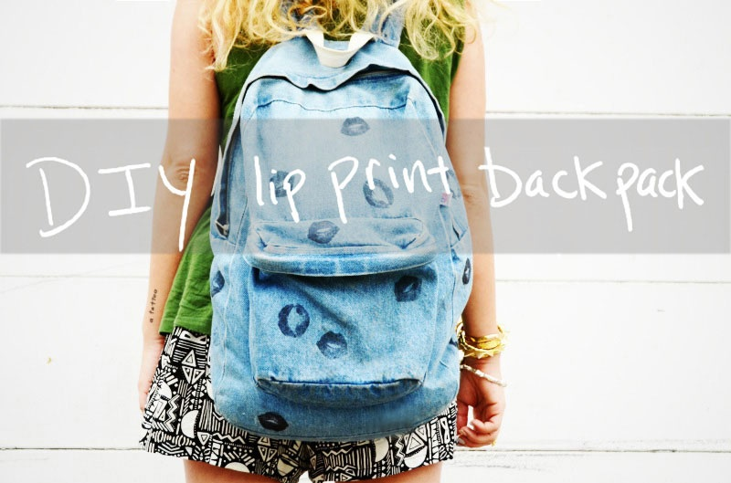lip print backpack