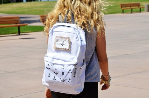 anchor print backpack (via mrkate)